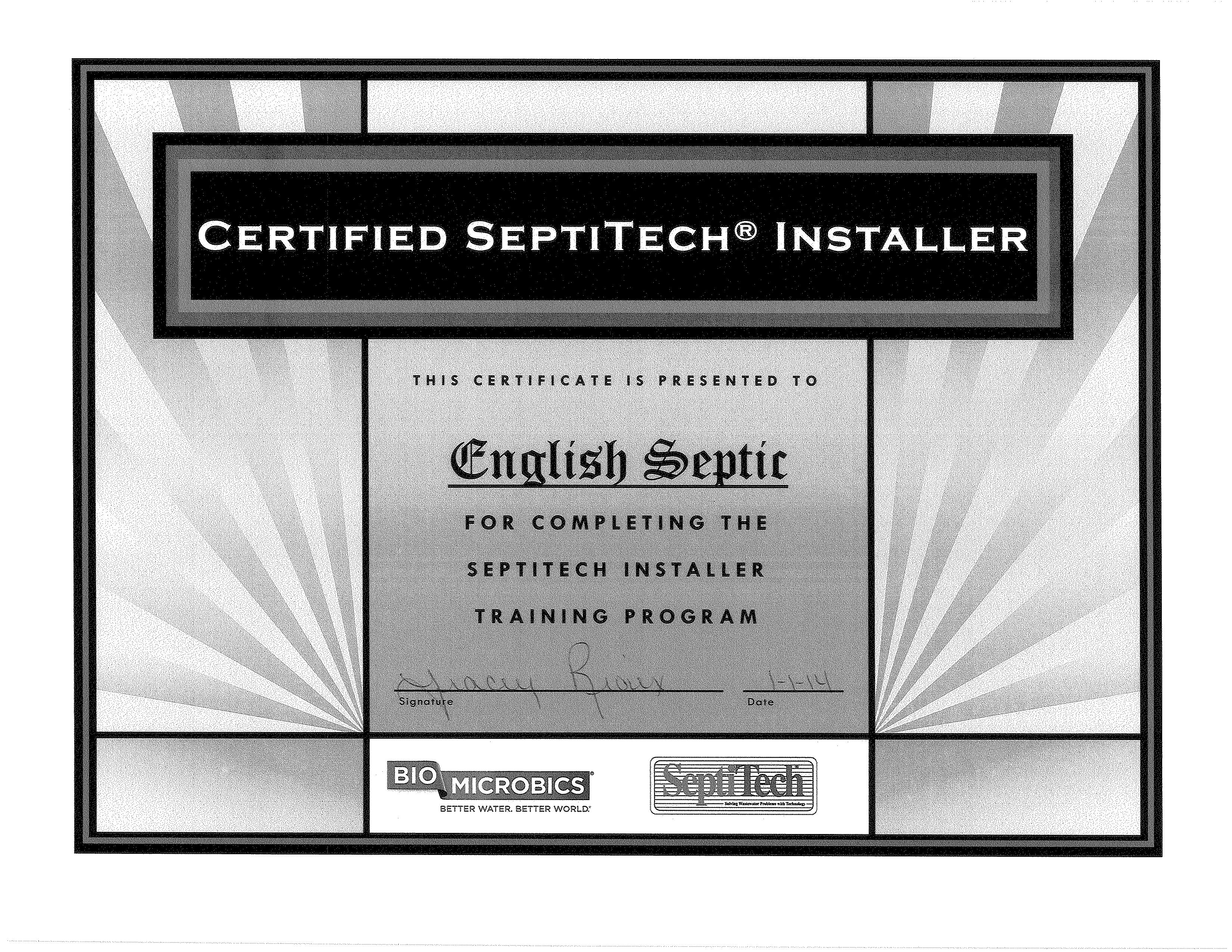 EnglishSeptiTechCert