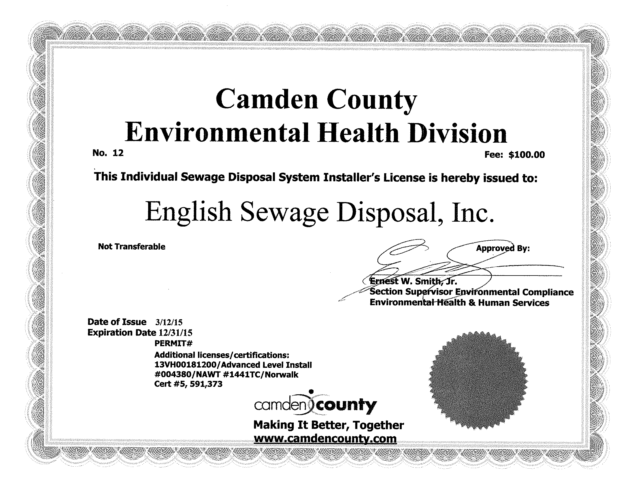 CamdenCoHD ISDSI License 2015